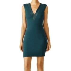 Bailey 44 Evergreen Teal Arrowneck Sheath Dress L